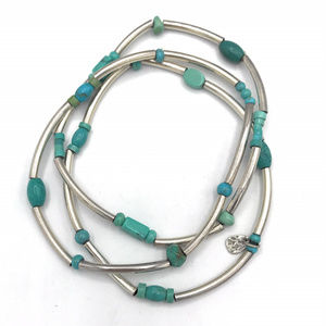 B2013 Retired Silpada set of 3 Turquoise Bracelet